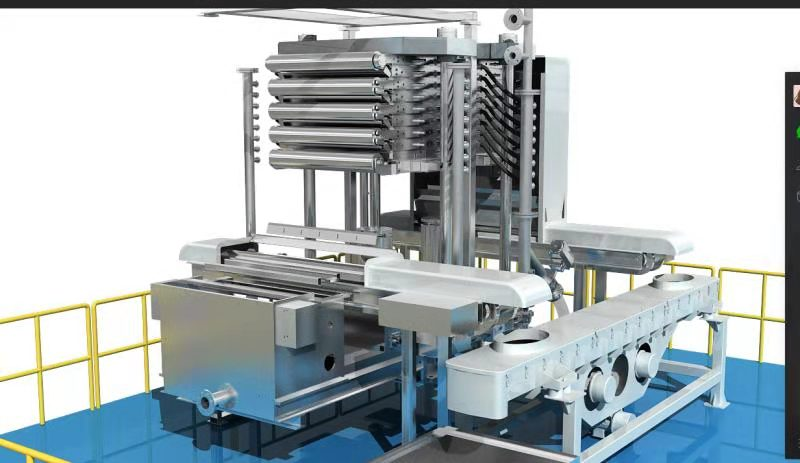 Transporte de material da prensa de filtro de chapa e estrutura