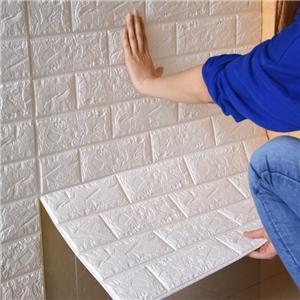ออกแบบสติ๊กเกอร์ติดผนัง 3D Faux Brick Brick แบบถอดได้