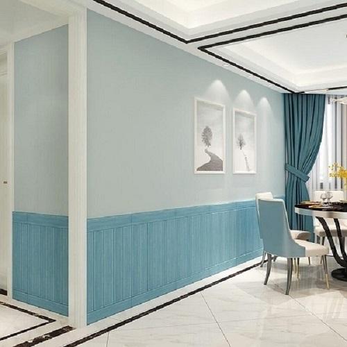 파란색 3D 나무 벽 스티커