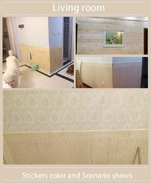 adesivo da parete in legno autoadesivo
