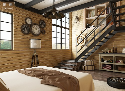 3D Heat-insulated Heat-proof Wood Wall Sticker Wallpapers