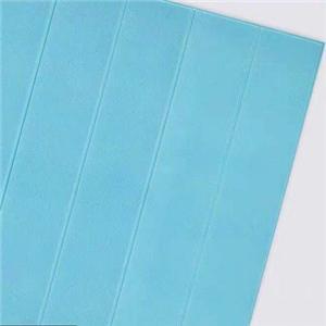 สีฟ้า 3D PE XPE ติดด้วยตนเองเป็นมิตรกับสิ่งแวดล้อมห้องเด็กสติกเกอร์ไม้ผนัง