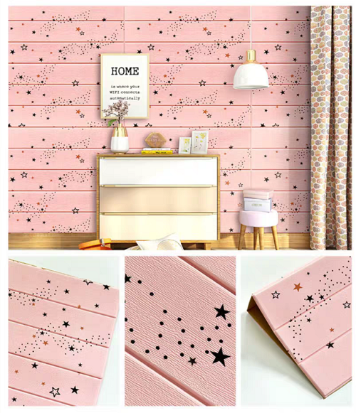3D Decorative Good Sound-insulation Wall Paper Sticker for baby children room decoration