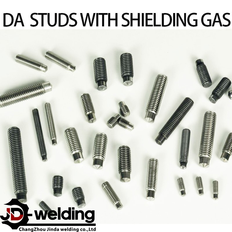 Drawn arc stud with shielding gas