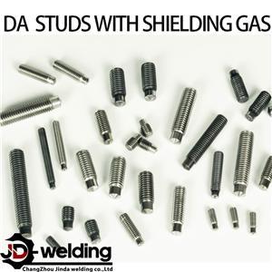 Drawn arc stud with shielding gas