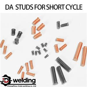 Drawn arc stud for short cycle