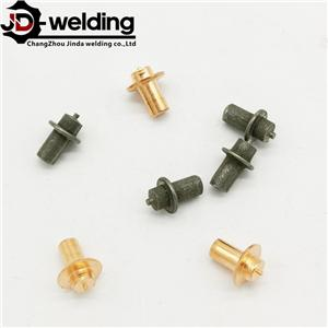 Metal tag stud welding