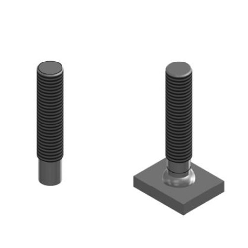 Threaded stud with partial thread (type PD)