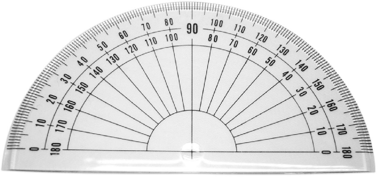 180 Degree Plastic Protractor