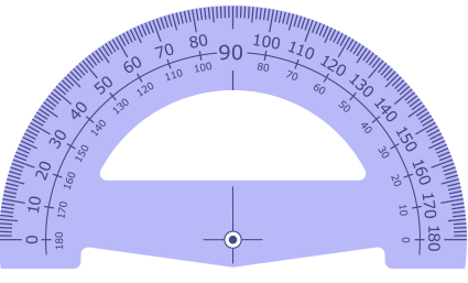 Cheap Sales 180 Degree Plastic Protractor wholesale Customized