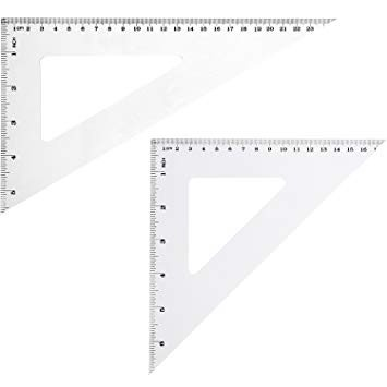 Cheap Sales Triangle Ruler Plastic Set Square wholesale Customized