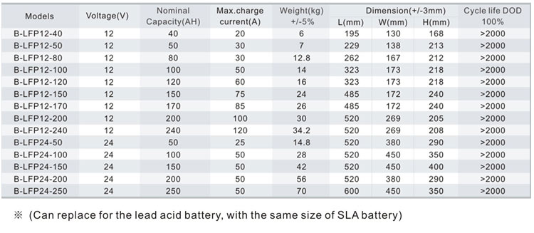 12v 100ah Lithium Iron Phosphate Battery pack