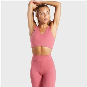 Roze yoga solo sportbeha voor meisjes