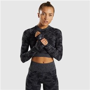 Gymshark Camo Seamless Long Sleeve Crop Top