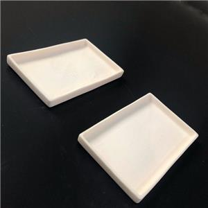Alumina Ceramic Tray With Flange