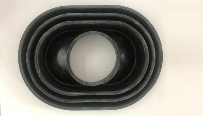 Ovel Large Hole Waterproof Rubber Case