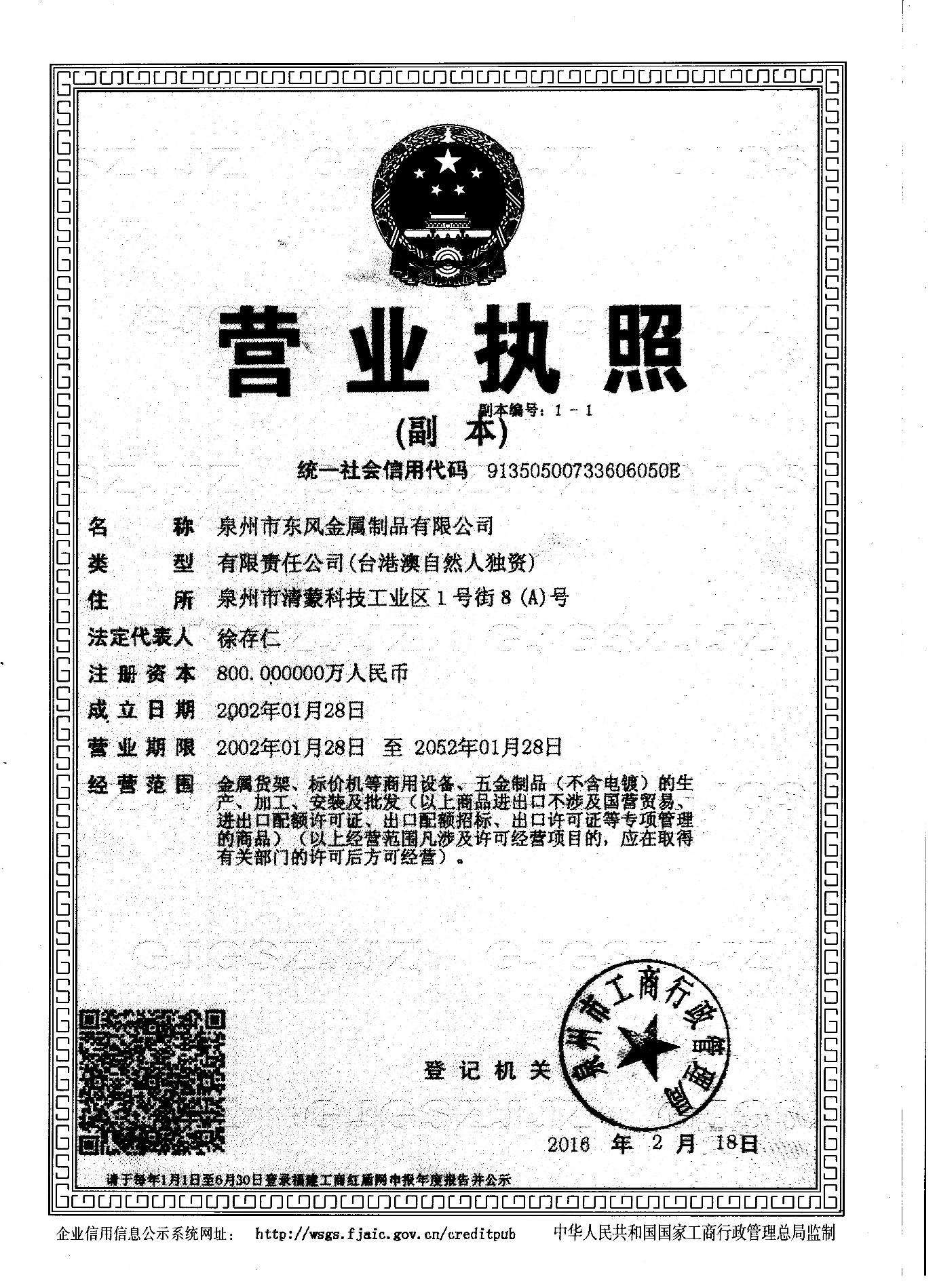 Businesss license