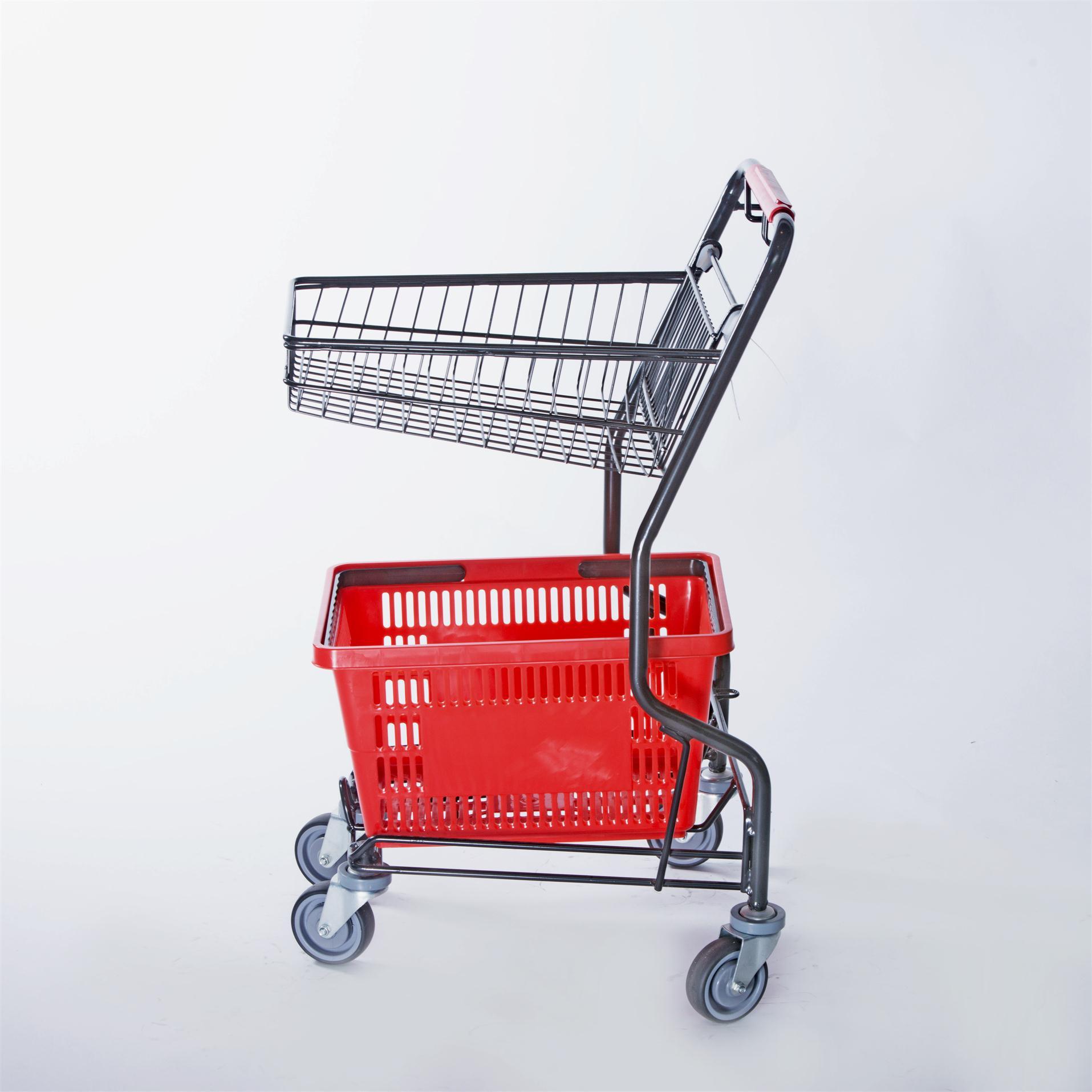 chrome shopping trolley