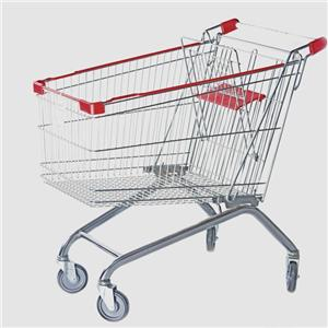 Chrome Steel Grocery Shopping Trolley