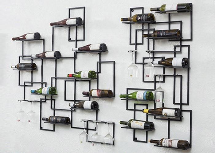 Metallic Wine Display