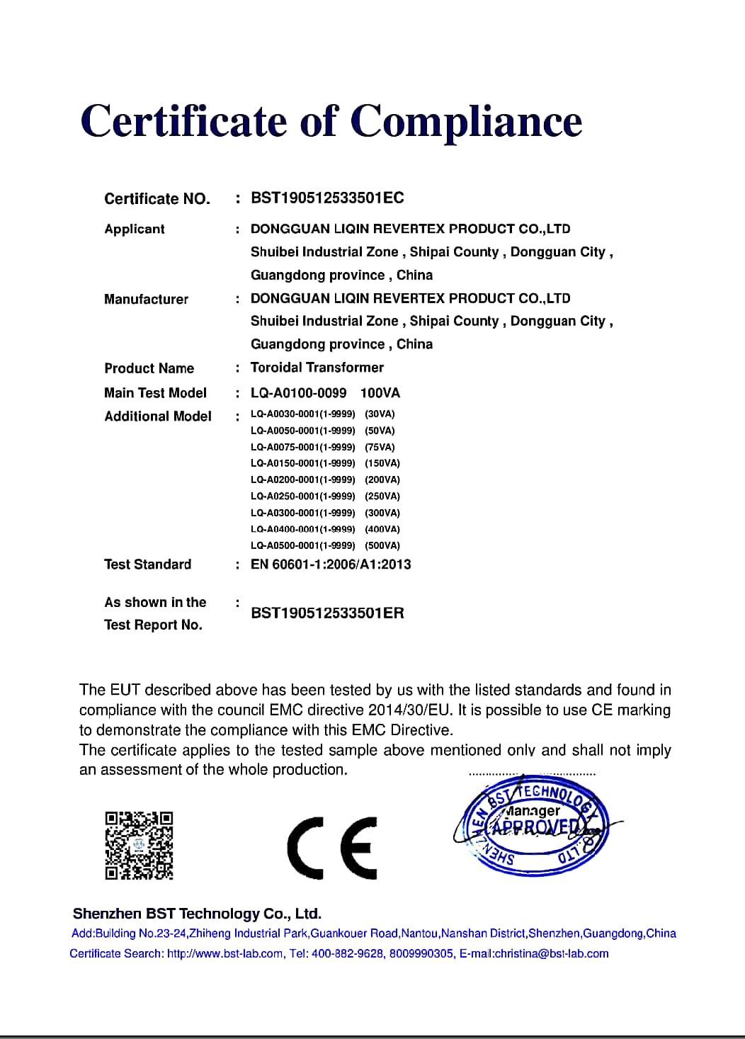 EN 60601-1: 2006 / A1: 2013 (medico)