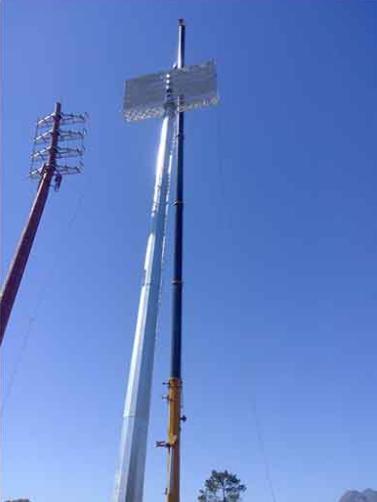 high mast flood light tower