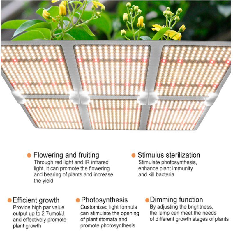 640 Вт квантовая плата светодиодный светильник для выращивания растений
