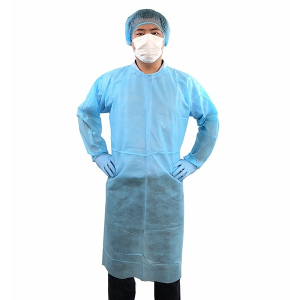 Non Woven Isolation Gown With Elastic Cuff