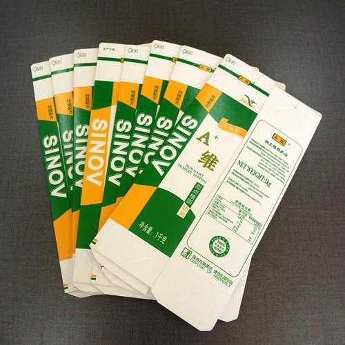 Creme Embalagem Carton Com Cap Gable Top Máquina