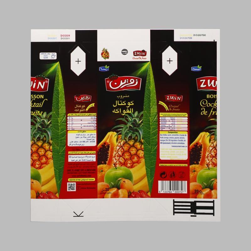 Lieferung von 125 ml 250 ml, 1 l flüssigem Verpackungsmaterial in Tetra-Pack-Rolle