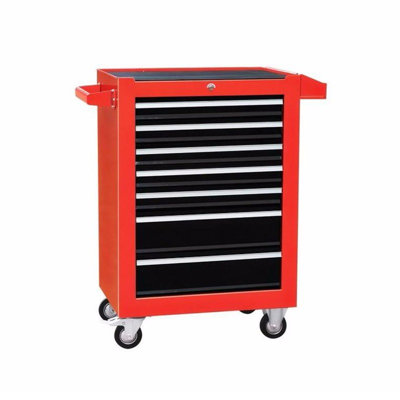 Red Storage Cabinet Mobile Tool Trolley Metal