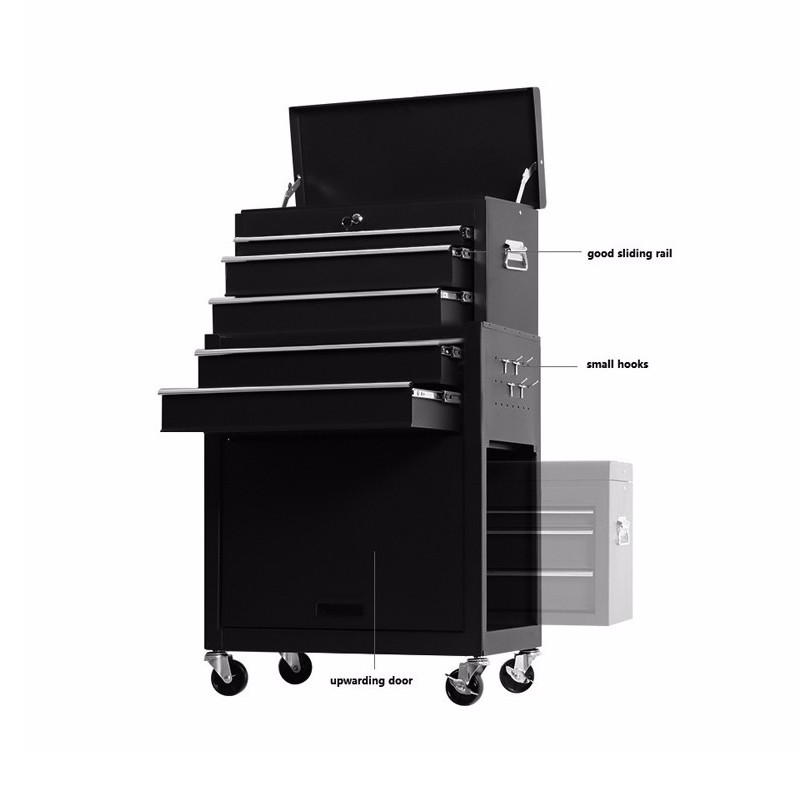 Garage Rolling Tool Box Cabinet Combo On Wheels