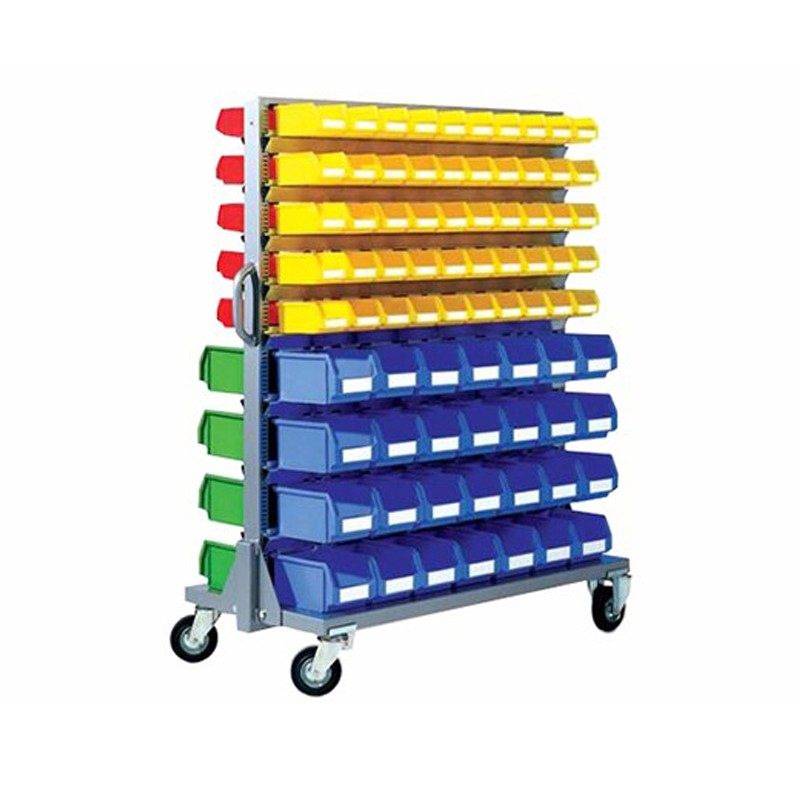 Warehouse Storage Plastic Bin Metal Rack