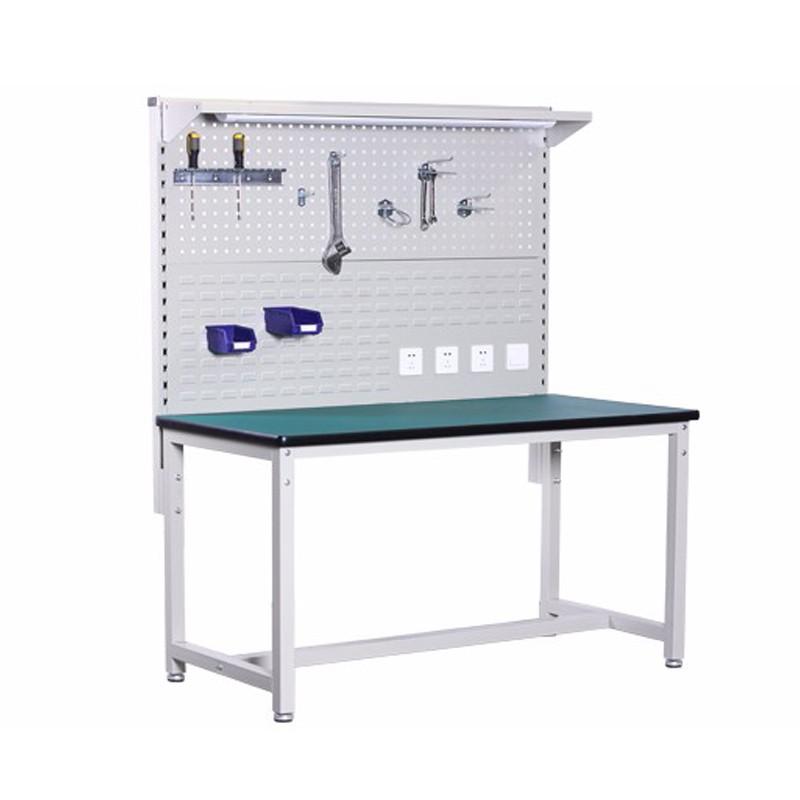 Metal Modular Workbench With Back Panel