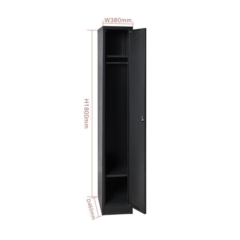 Single Door Steel Storage Locker Cabinet