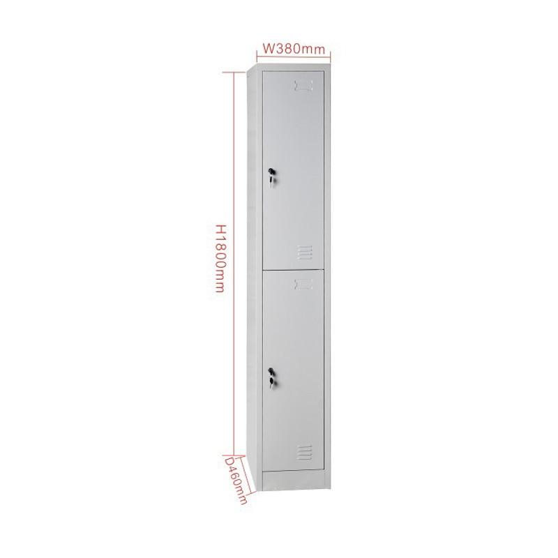 KD Structure 2 Tier Steel Storage Locker Wardrobe