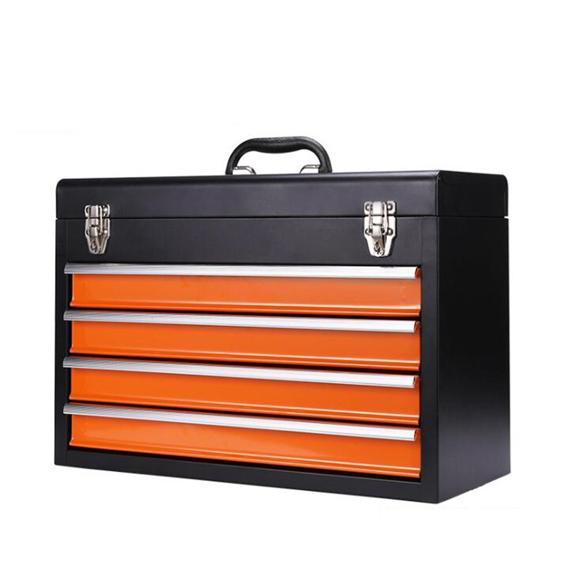 Steel Portable Tool Storage Box With Drawers