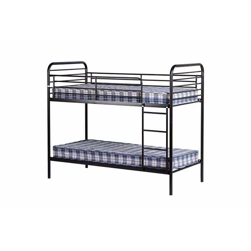 Black Metal Iron Dormitory Bunk Student Beds