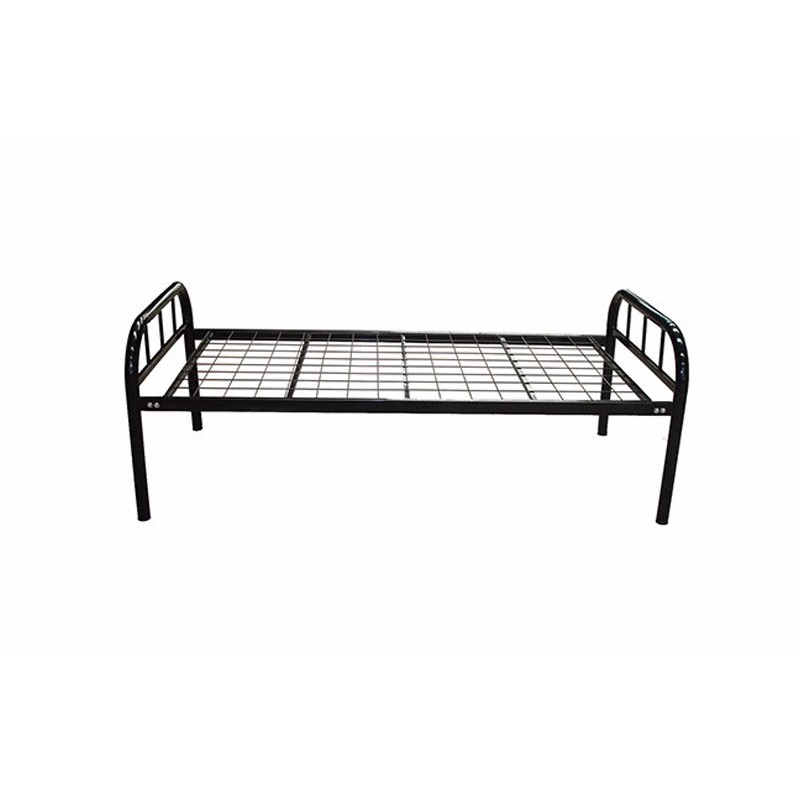 Kd Structure Grey Army Metal Single Bed