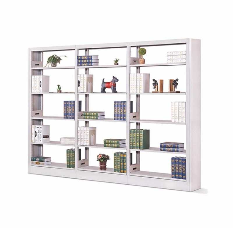 Mdf Surface Double Sided Metal Bookshelf