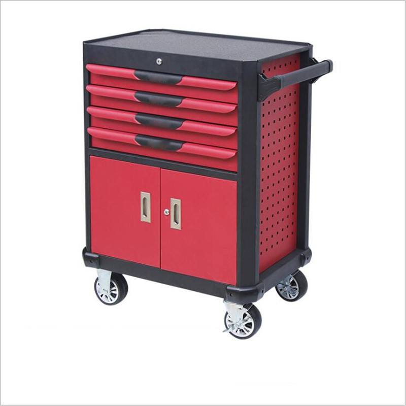 Metal Lockable Cabinet Trolley With Tools