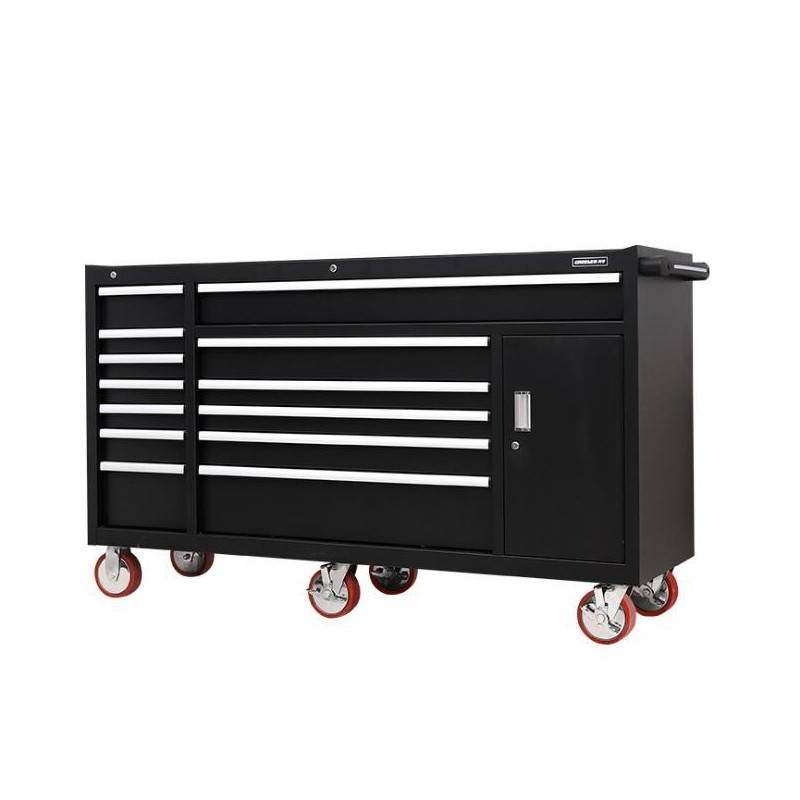 Iron Tool Chest And Roller Cabinet Combo