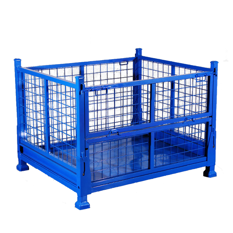 Foldable Wire Mesh Storage Metal Pallet Cage Manufacturers, Foldable Wire Mesh Storage Metal Pallet Cage Factory, Supply Foldable Wire Mesh Storage Metal Pallet Cage
