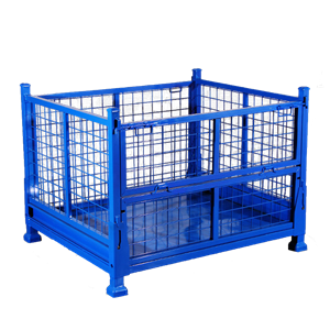 Foldable Wire Mesh Storage Metal Pallet Cage