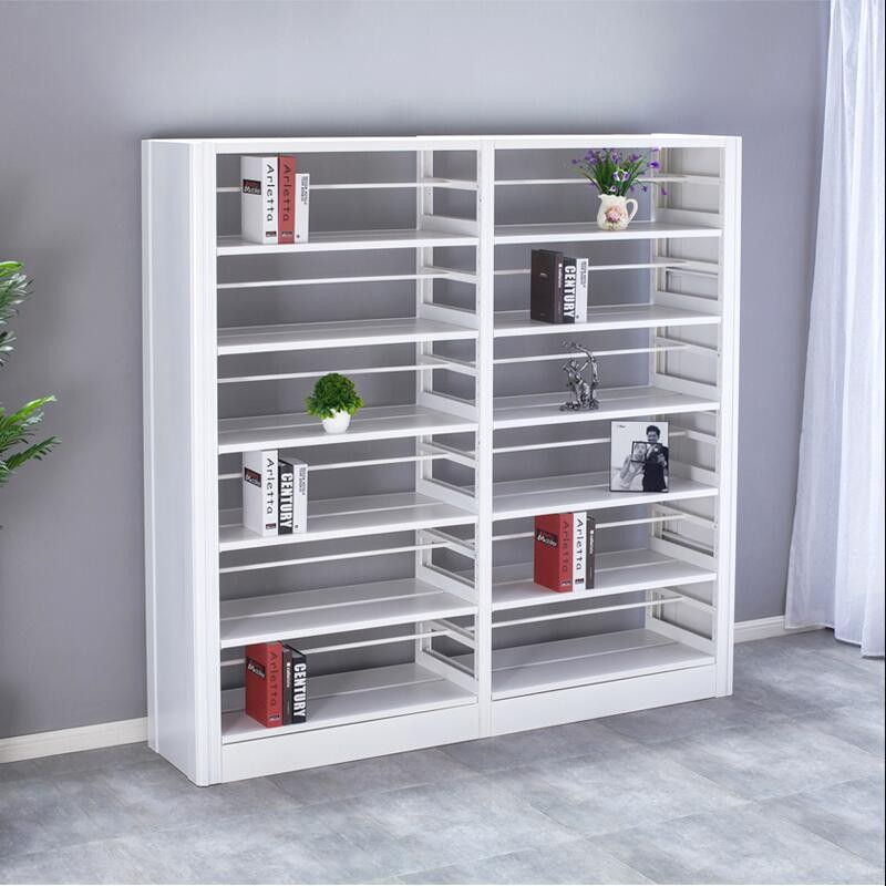 White Tall School Metal Book Rack Shelving