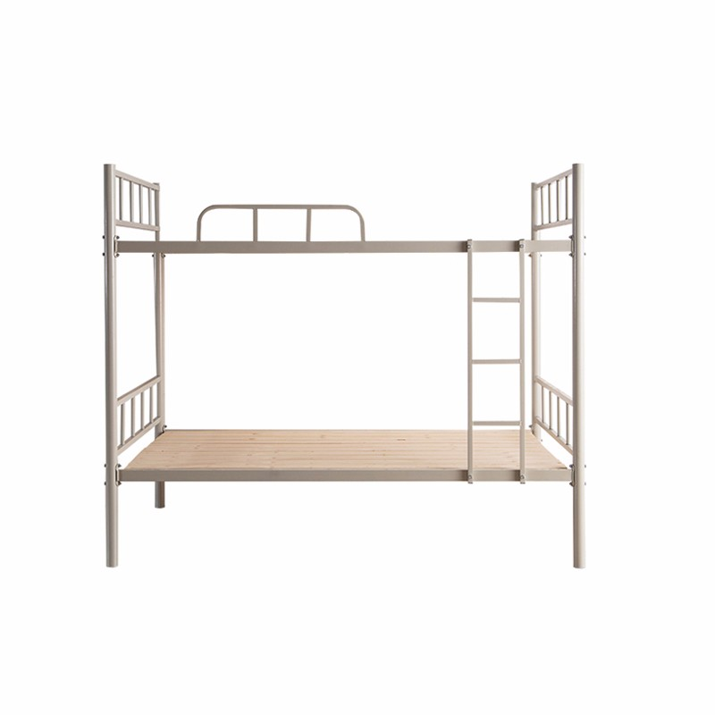 Adult White Steel Metal Bunk Beds For Labour