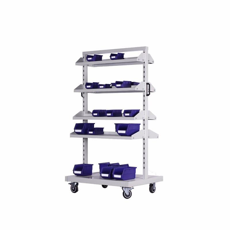 Mobile Storage Large Bins Perforated Racks