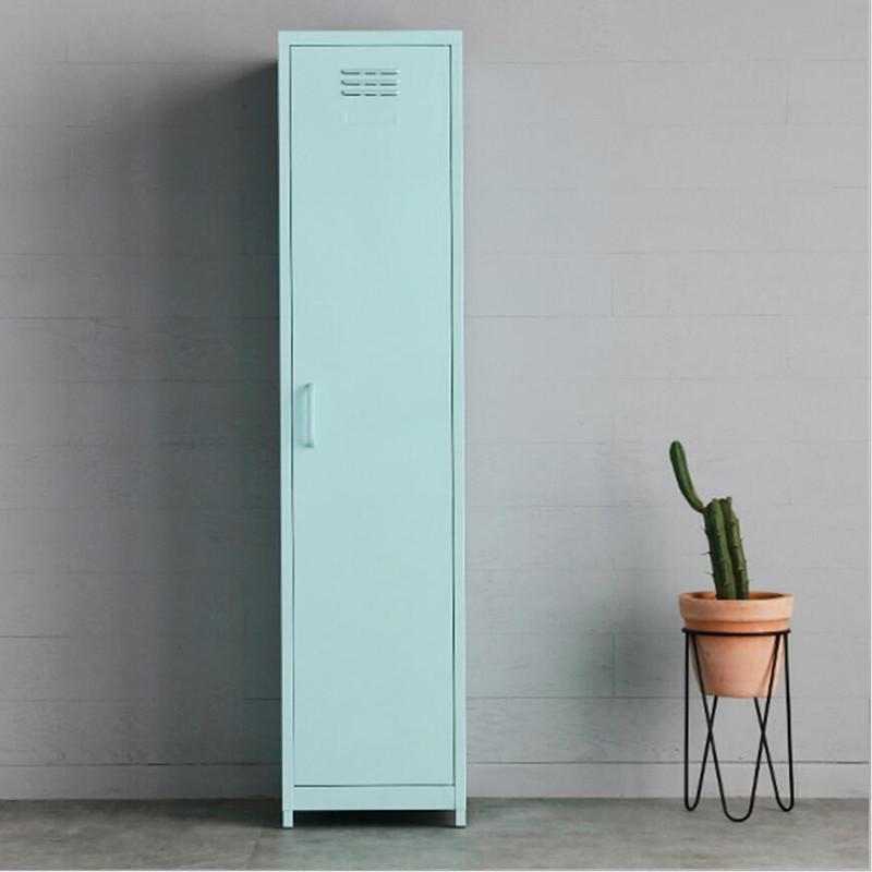 Iron Living Room Dressing Cabinet Locker With Feet