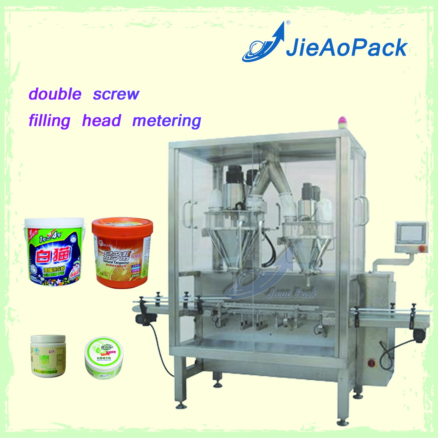 Full-automatic Powder Double Position Auger Line Filling Machine