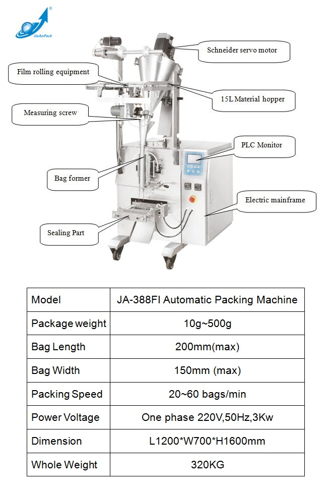 Small vertical granule packing machine